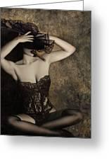 Sensuality In Sepia - Self Portrait Greeting Card by Jaeda DeWalt