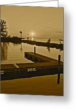Sepia Sunset Greeting Card by Frozen in Time Fine Art Photography