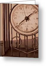Sepia Time Greeting Card by Guy Ricketts