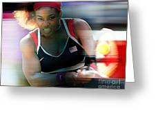Serena Williams Greeting Card by Marvin Blaine