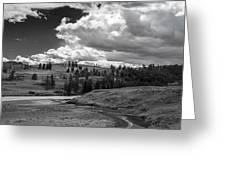 Serene Valley Greeting Card by Jon Glaser