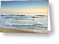 Serenity Sea Vintage Greeting Card by Guido Montanes Castillo