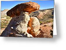 Serpent Trail Caprock Greeting Card by Ray Mathis