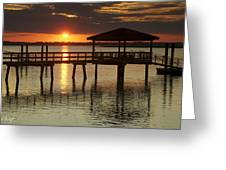 Setting Sun Greeting Card by Phill  Doherty