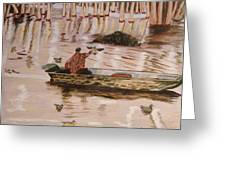 Setting Up In A Tupelo Swamp Greeting Card by Kevin Callahan