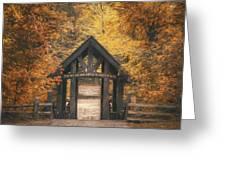 Seven Bridges Trail Head Greeting Card by Scott Norris