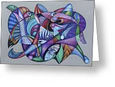 Seven Creatures For Seven Seas Greeting Card by Lonnie C Tapia