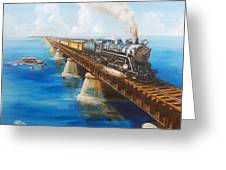Seven Mile Bridge Greeting Card by Christopher Jenkins