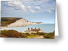 Seven Sisters Cuckmere Haven South Downs Sussex Greeting Card by Colin and Linda McKie