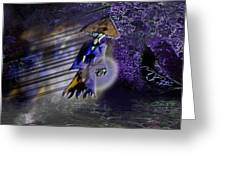 Severely Haunted Woods Greeting Card by Marvin Creapeau