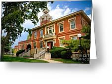 Sewickley Pennsylvania Municipal Hall Greeting Card by Amy Cicconi