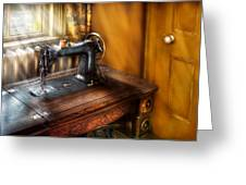 Sewing Machine  - The Sewing Machine  Greeting Card by Mike Savad