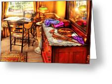 Sewing Machine  - The Sewing Room Greeting Card by Mike Savad
