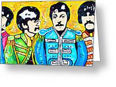 Sgt. Pepper's Lonely Hearts Club Greeting Card by Tara Richelle