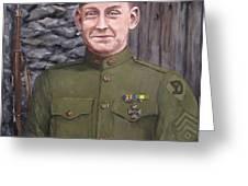 Sgt Sam Avery Greeting Card by Jack Skinner