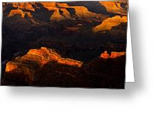 Shadows And Light In The Grand Canyon Greeting Card by Andrew Soundarajan