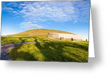 Shadows Fall On Newgrange In Ireland Greeting Card by Mark E Tisdale