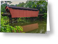 Shaeffer Or Campbell Covered Bridge Greeting Card by Jack R Perry