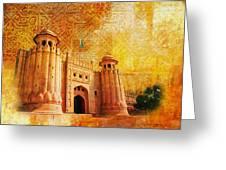 Shahi Qilla Or Royal Fort Greeting Card by Catf
