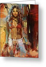 Shakira Greeting Card by Corporate Art Task Force