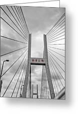 Shanghai Bridge Greeting Card by Matthew Bamberg