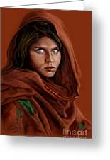Sharbat Gula Greeting Card by Reggie Duffie