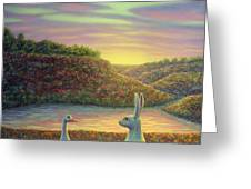 Sharing A Moment Greeting Card by James W Johnson