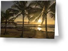 Sharks Cove Sunset 2 - Oahu Hawaii Greeting Card by Brian Harig