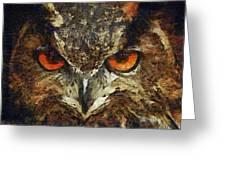 Sharpie Owl Greeting Card by Ayse Deniz