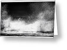 Shattering Waves Greeting Card by John Rizzuto