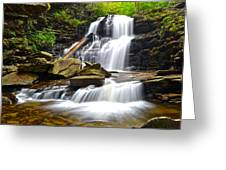 Shawnee Falls Greeting Card by Frozen in Time Fine Art Photography