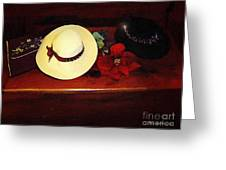 She Loved Hats Greeting Card by RC DeWinter