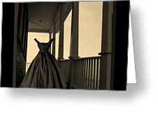 She Walks The Halls Greeting Card by Barbara St Jean