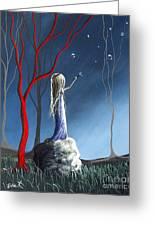 She Whispers Her Dreams By Shawna Erback Greeting Card by Shawna Erback