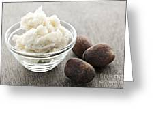 Shea Butter And Nuts  Greeting Card by Elena Elisseeva