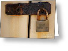 Shed Lock   Greeting Card by Bobby Mandal