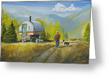 Sheep Camp Greeting Card by Jerry McElroy