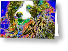 Sheep Dog 20130125v3 Greeting Card by Wingsdomain Art and Photography