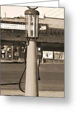 Shell Gas - Wayne Visible Gas Pump 2 Greeting Card by Mike McGlothlen