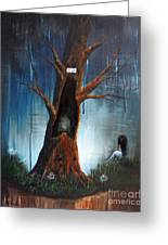 She'll Leave The Light On For You By Shawna Erback Greeting Card by Shawna Erback