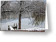 Shenandoah Winter Serenity Greeting Card by Lara Ellis