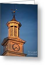 Shepherd University - Mcmurran Clock Tower At Twilight Greeting Card by Julia Springer