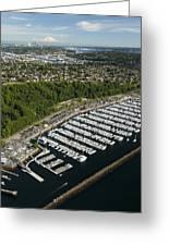 Shilshole Bay Marina On Puget Sound Greeting Card by Andrew Buchanan/SLP