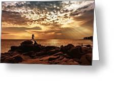 Shine On Me Greeting Card by Mary Amerman