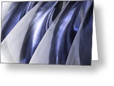 Shine On Metal - Blue Tones Greeting Card by Natalie Kinnear