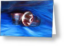 Shiny Metal Cups Study Greeting Card by LaVonne Hand