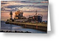 Ship Ahoy Greeting Card by Mary Amerman