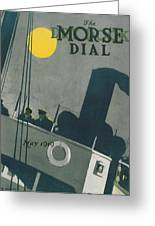 Ship At Night Greeting Card by Edward Hopper