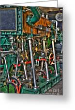 Ship Engine Greeting Card by Heiko Koehrer-Wagner