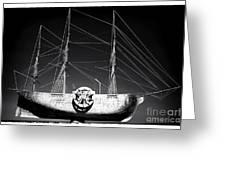 Ship Greeting Card by John Rizzuto